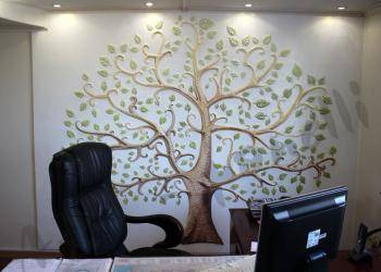 PANNO ALBERO DELLA FAVOLA - гипсовые панели с 3Д-эффектом в отделке офисного помещения