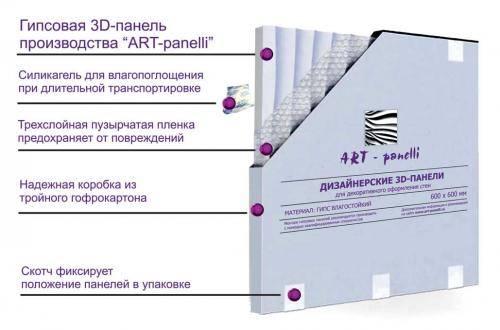 Упаковка гипсовых 3D-панелей